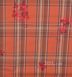 花朵 格子 色织 梭织 绣花 微弹 连衣裙 衬衫 女装 童装 春秋 71227-56