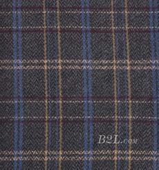 毛纺 格子 羊毛 粗纺 色织 低弹 秋冬 外套 女装 81028-16