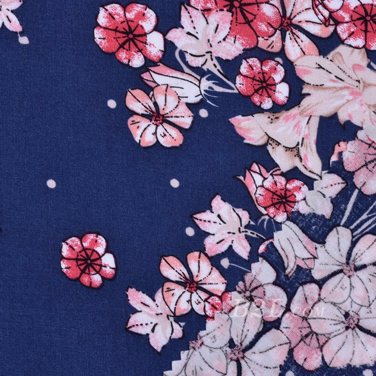 人棉 期货 定位 花朵 梭织 印花 无弹衬衫 连衣裙 短裙 薄 棉感 70531-46