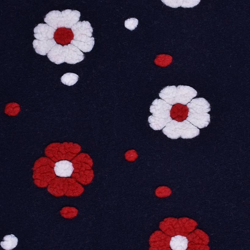 期货 花朵 呢料 柔软 羊毛 大衣 外套 女装 70315-18
