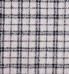 毛纺 粗纺 格子 粗花呢 提花  香奈儿风 色织 无弹 粗糙 秋冬 大衣 外套 女装 80901-7
