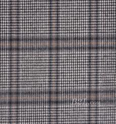 毛纺 格子 羊毛 粗纺 毛感 色织 低弹 秋冬 大衣 外套 女装 81028-15