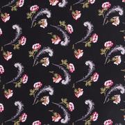 人棉皺 現貨 羽毛花 梭織 印花 無彈 襯衫 連衣裙 短裙 棉感 薄 70522-2