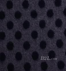 毛纺 针织 拉毛 提花  粗纺 圆点 圆机 大衣 外套 加厚 绒感 60803-37