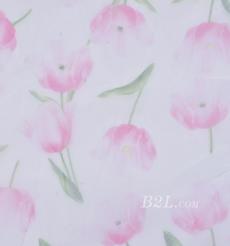 期貨 印花 全滌 針織 花朵 薄 低彈 網布  連衣裙 春夏 女裝 80302-53