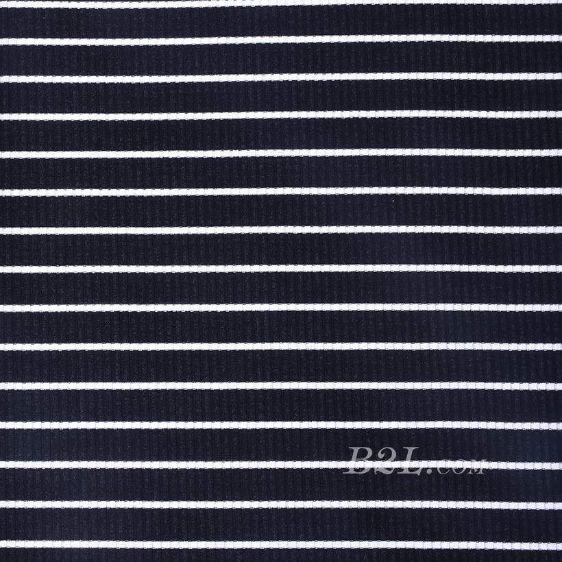 针织染色圆机条纹面料-春夏秋连衣裙针织衫面料60312-48