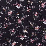 人棉皺 植物 梭織 印花 低彈 襯衫 連衣裙 短裙 棉感 現貨 薄 70522-1