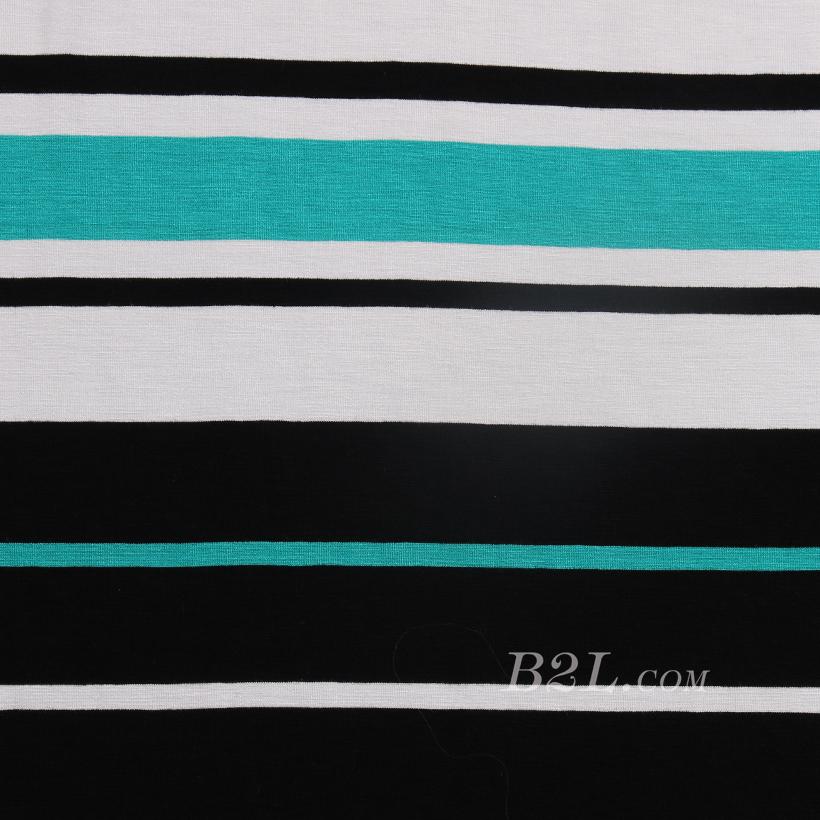 针织染色圆机弹力横条纹罗纹面料-春夏秋针织衫T恤连衣裙面料60312-91