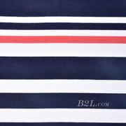 针织染色圆机棉感弹力横条纹罗纹面料-春夏秋针织衫T恤连衣裙面料60312-58