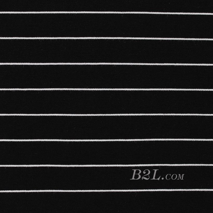 针织染色圆机弹力横条纹罗纹面料-春夏秋针织衫T恤连衣裙面料60311-47