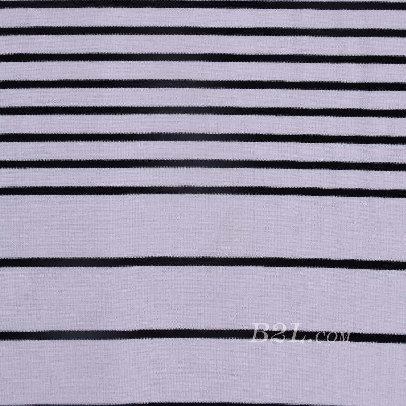 条子 横条 圆机 针织 纬编 T恤 针织衫 连衣裙 棉感 弹力 60312-78