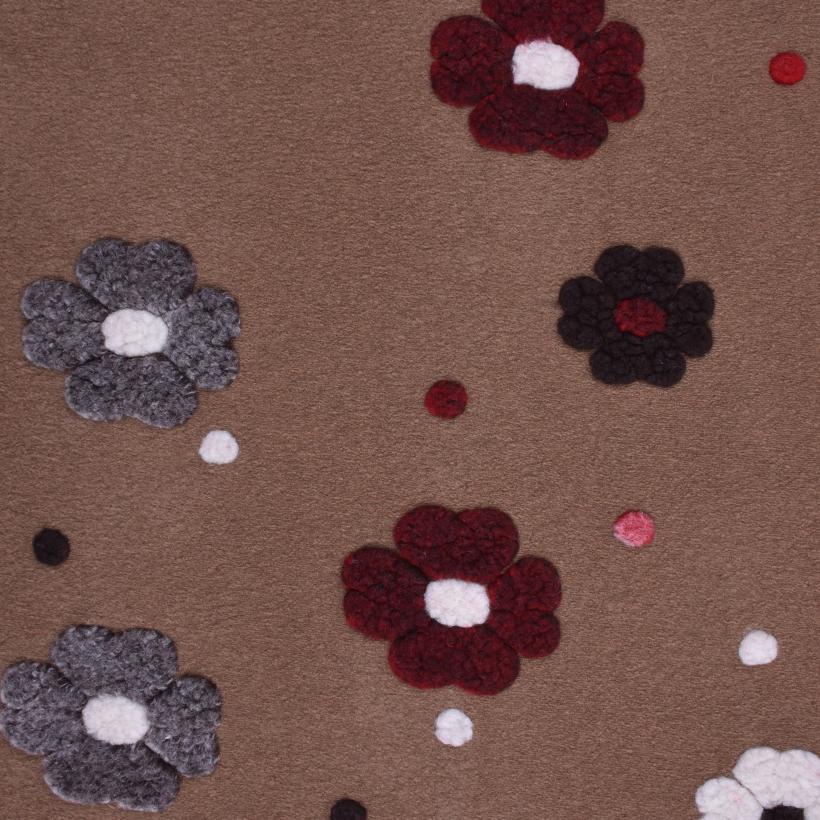 花朵 呢料 柔软 羊毛 大衣 外套 女装 70315-20