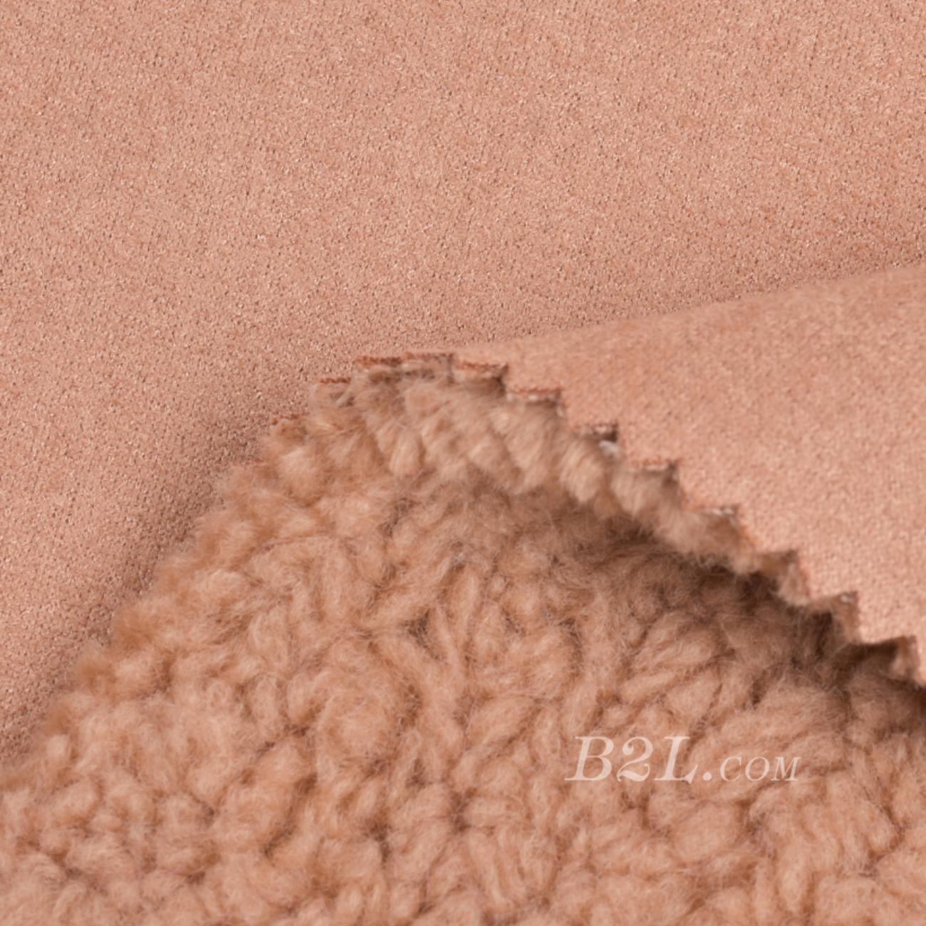 梭织染色素色皮毛一体面料-春秋冬大衣外套夹克马甲面料90313-12
