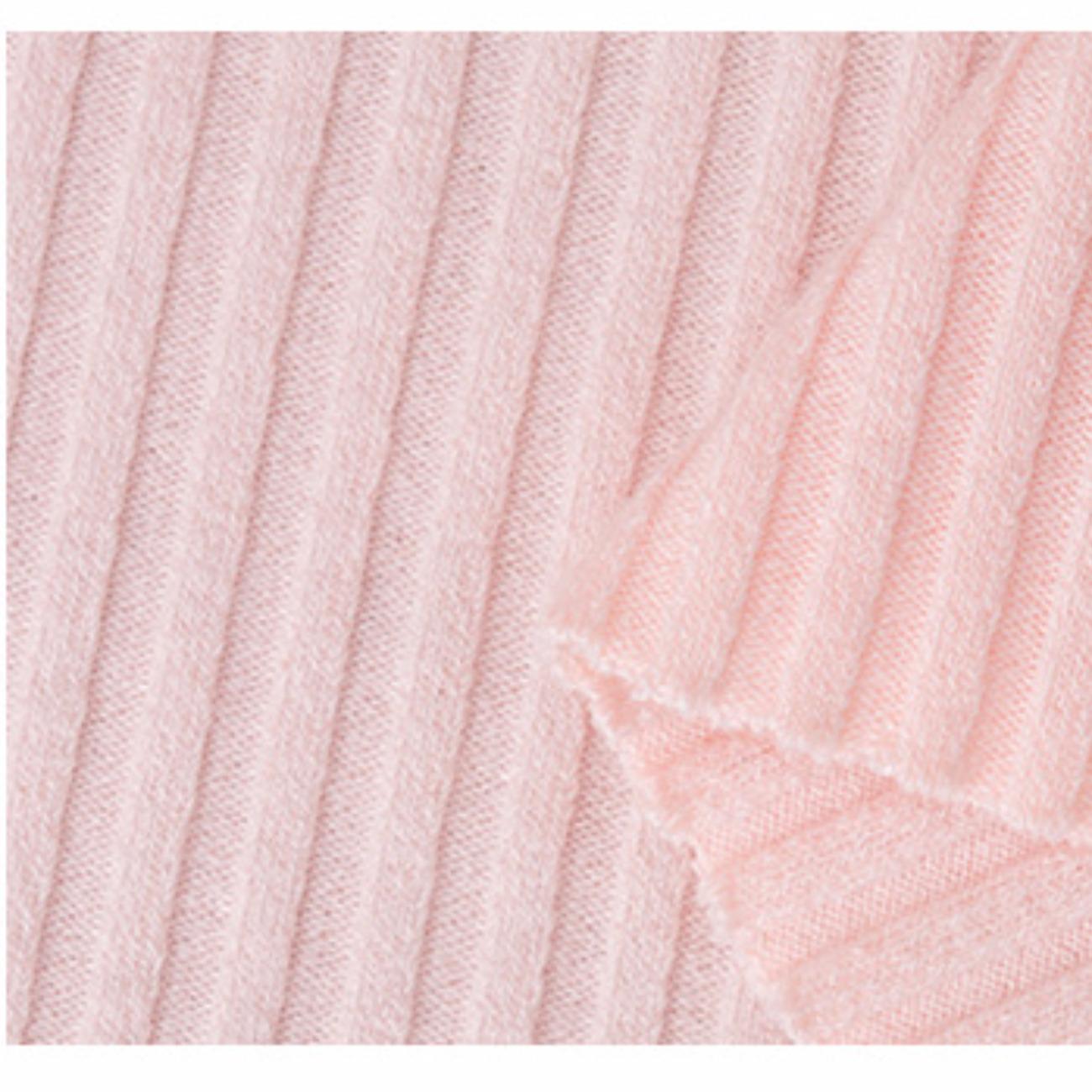 厂家热销 4*4罗纹坑条针织面料 300g时尚女装毛衣涤棉布料批发
