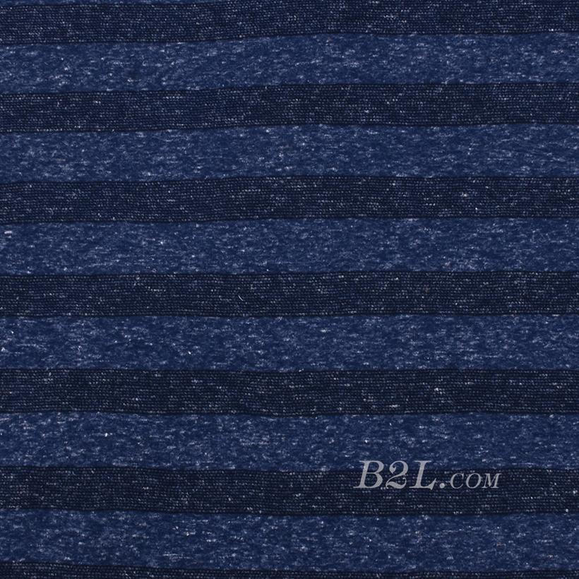 针织 染色 条纹 棉感 低弹 平纹 开衫 外套 70531-9