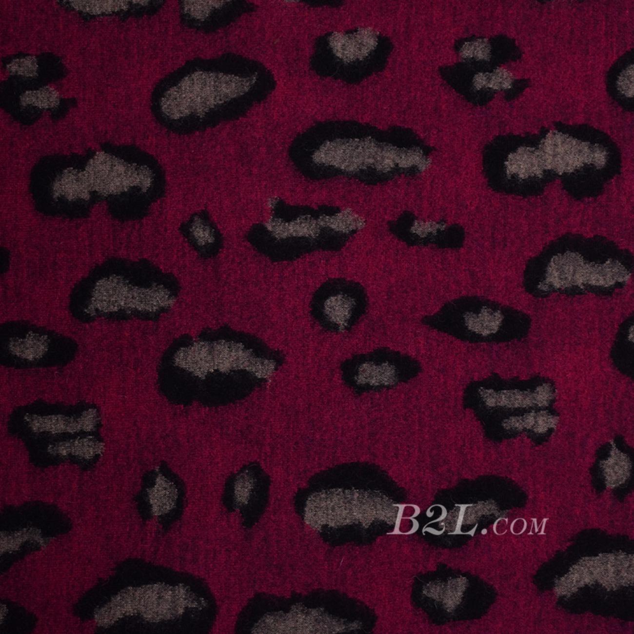 豹纹 呢料 柔软 羊毛 大衣 外套 女装 60803-36
