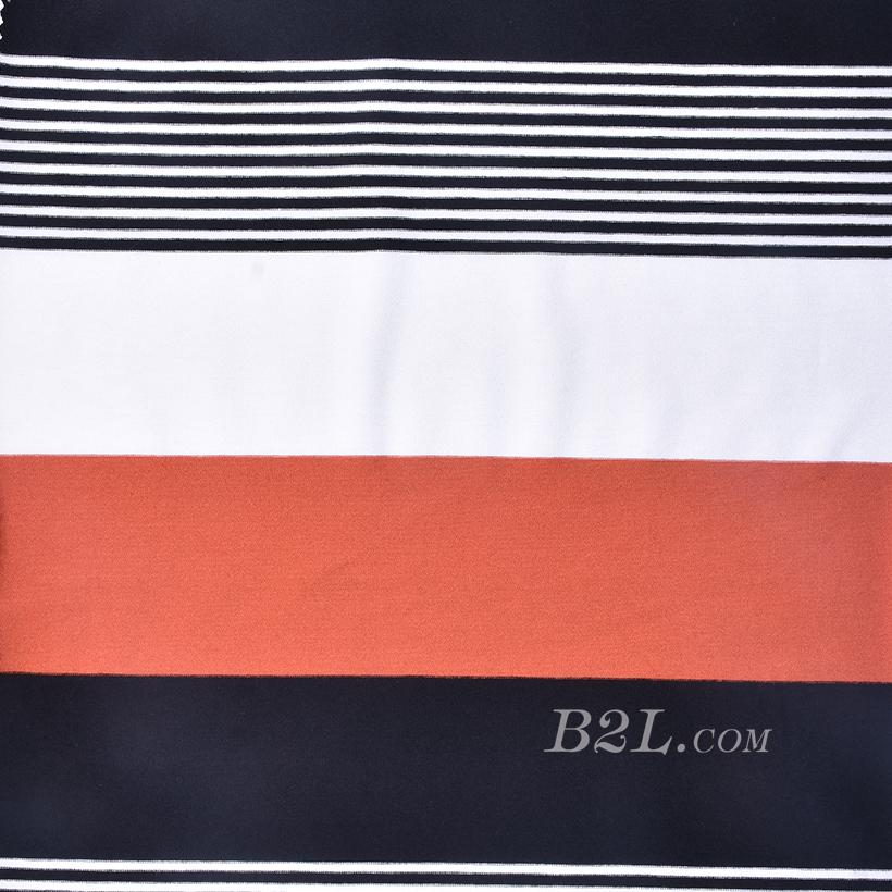 条子 横条 圆机 针织 纬编 T恤 针织衫 连衣裙 棉感 弹力 定位 罗纹 期货 60312-60