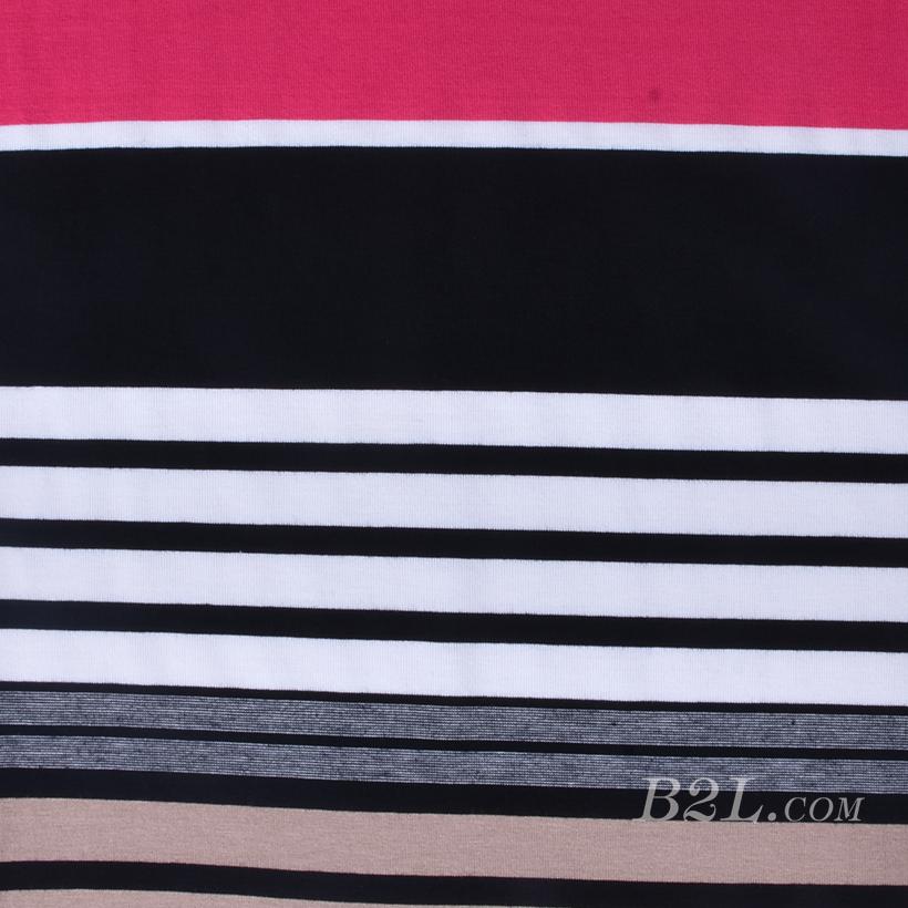 针织染色圆机弹力横条纹罗纹面料-春夏秋针织衫T恤连衣裙面料60312-179