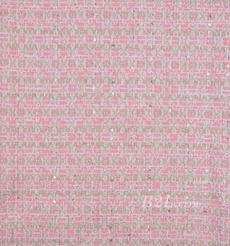 毛纺 粗纺 亮片 银线 提花 色织 香奈儿风 无弹 粗糙 秋冬 大衣 外套 女装 80901-27