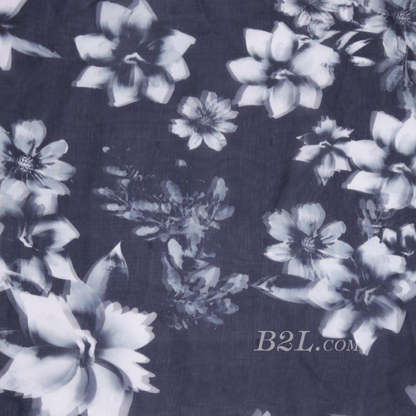 印花 梭织 花朵 无弹 3D 纱感 女装 连衣裙 短裙 春夏秋 71125-3