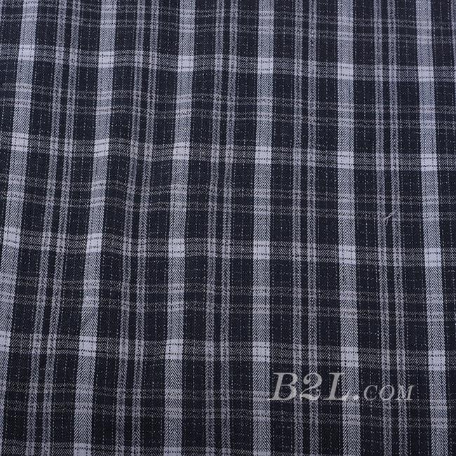 梭织 格子 棉感 色织 斜纹 无弹 外套 大衣 连衣裙 60620-7