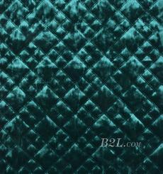 提花 梭織 染色 低彈 菱形格 春秋冬 時裝 棉衣 90309-11