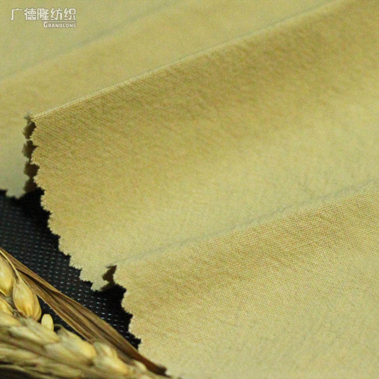 广德隆XW169 纯棉优质仿麻感平纹洗水休闲面料 时尚家庭装饰桌布台布套罩 礼服裙子裤子衬衣外套风衣鞋子帽子箱包手提袋