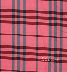 格子 涤棉 棉感 色织 平纹 外套 衬衫 上衣 薄 70622-72
