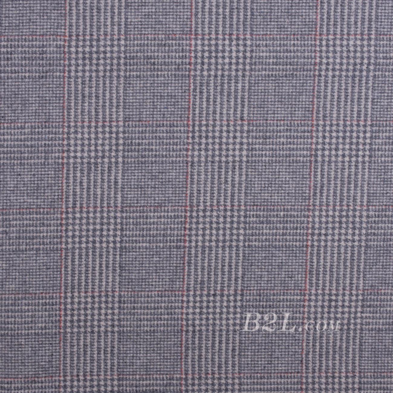毛纺 格子 梭织 双面 低弹 羊毛 秋冬 大衣 外套 女装 80815-17