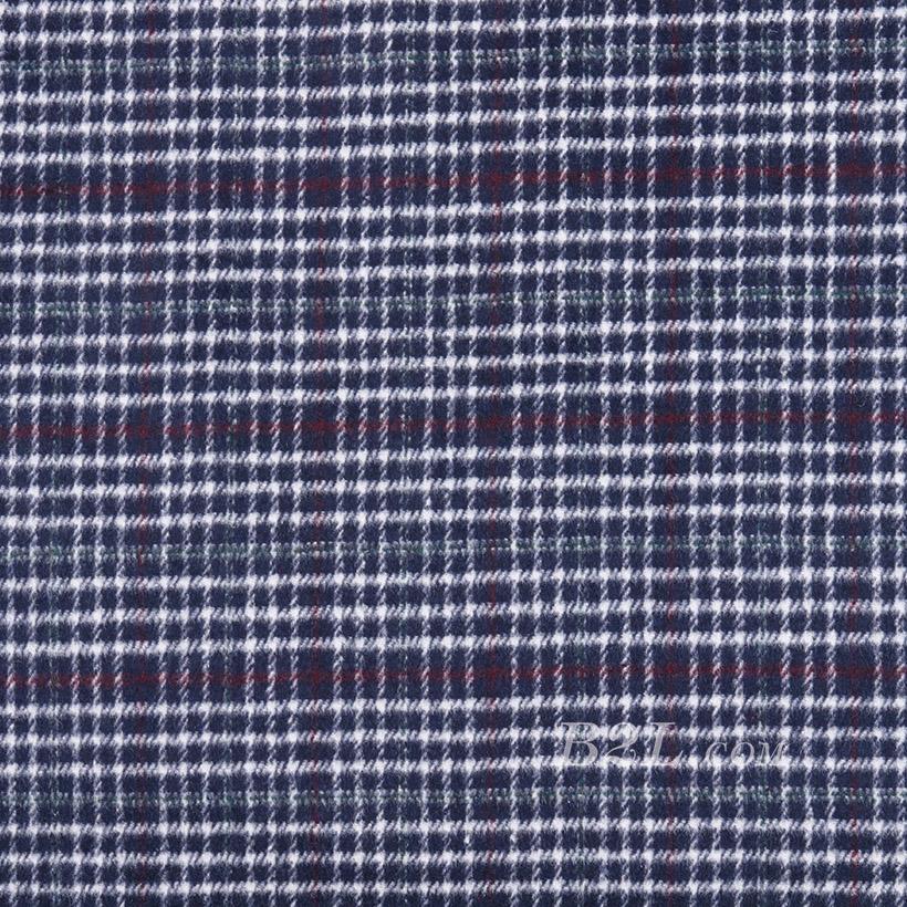 格子 千鸟格 无弹 毛纺 色织 柔软 绒感 大衣 外套 短裙 女装 秋冬71201-8
