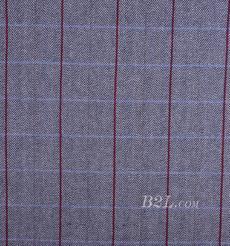 毛纺 格子 人字纹 提花 色织 绒感 低弹 秋冬 外套 大衣 女装 80724-7