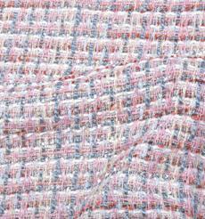 毛纺 梭织 染色 小香风 条纹 秋冬 大衣 时装 91017-30