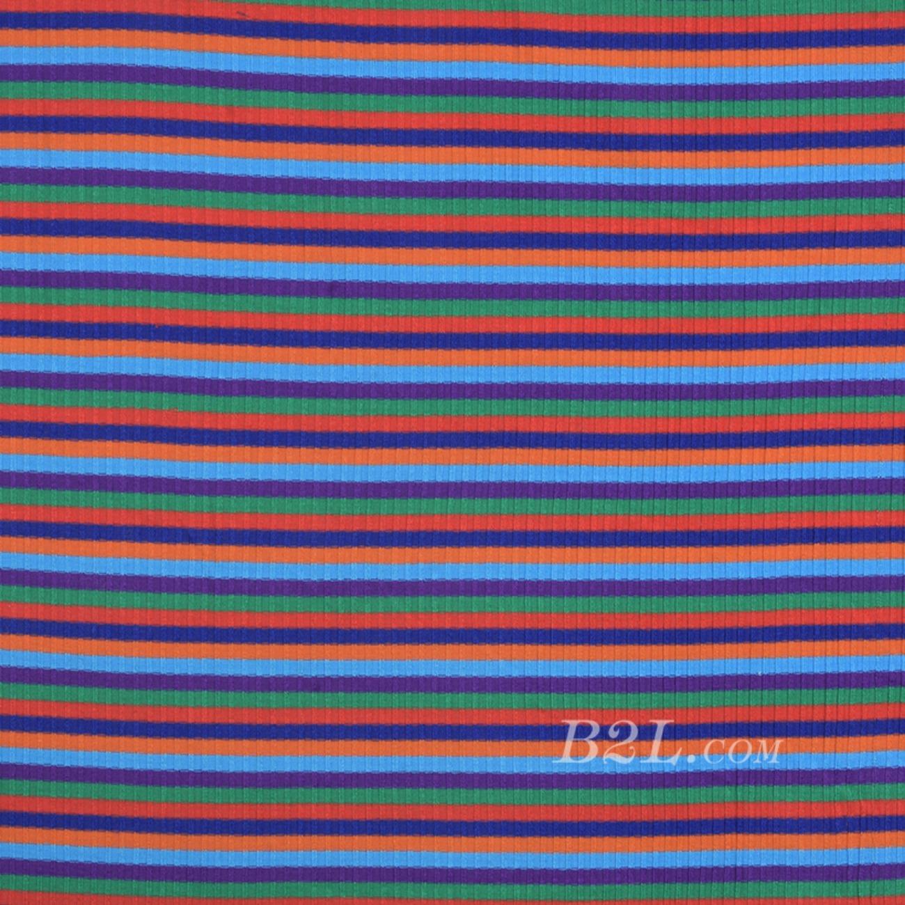 条纹 针织 横条 高弹 棉感 春秋 T恤 针织衫 连衣裙 80905-31