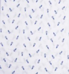 印花 梭织 染色 低弹 菠萝 植物 水果 斜纹 薄 春秋 连衣裙 时装 90311-9