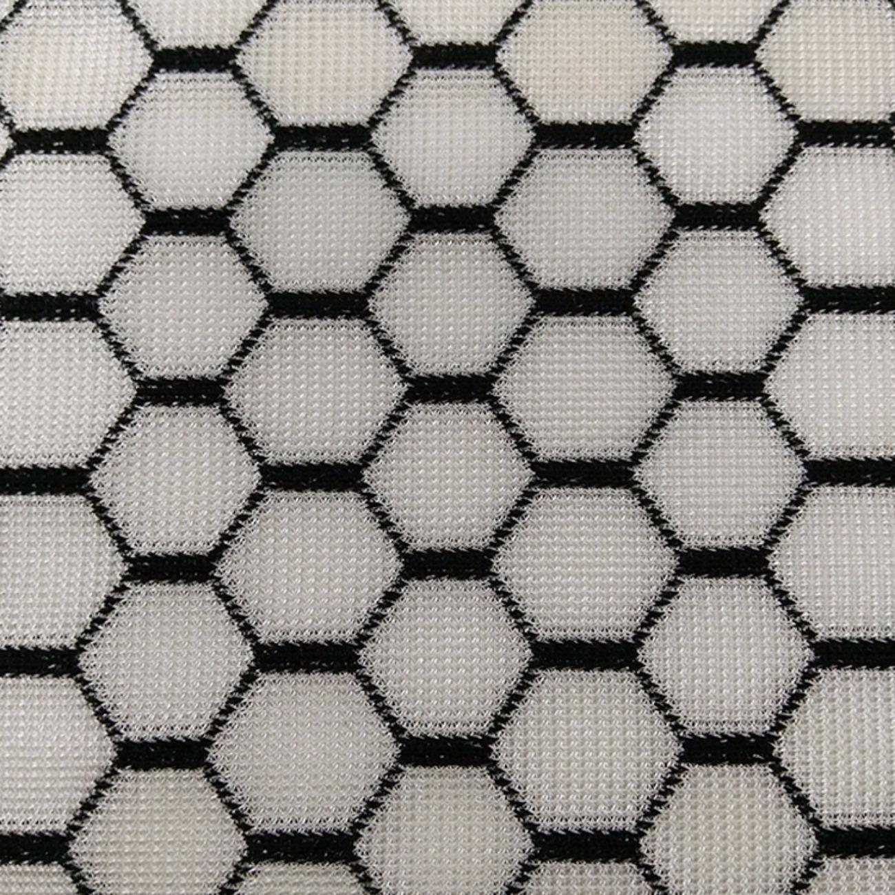 黑白六边形三明治网布