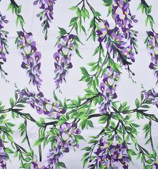 期貨 印花 全棉 梭織 棉感 花朵 低彈 薄 連衣裙 襯衫 四季 女裝 童裝 80302-35