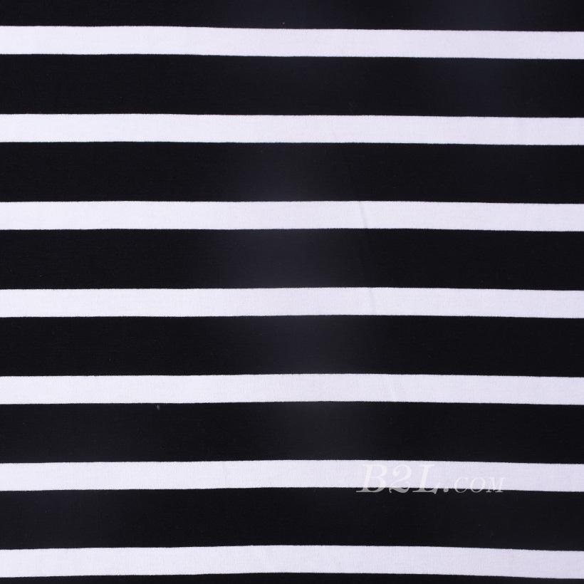 条子 横条 圆机 针织 纬编 T恤 针织衫 连衣裙 棉感 弹力 罗纹 60312-161