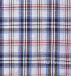 格子 梭织 染色 麻感 春夏 外套 衬衫  91210-41
