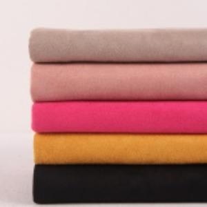 超纤麂皮双面磨毛绒布 秋冬女装风衣复合布面料 时尚女装外套用