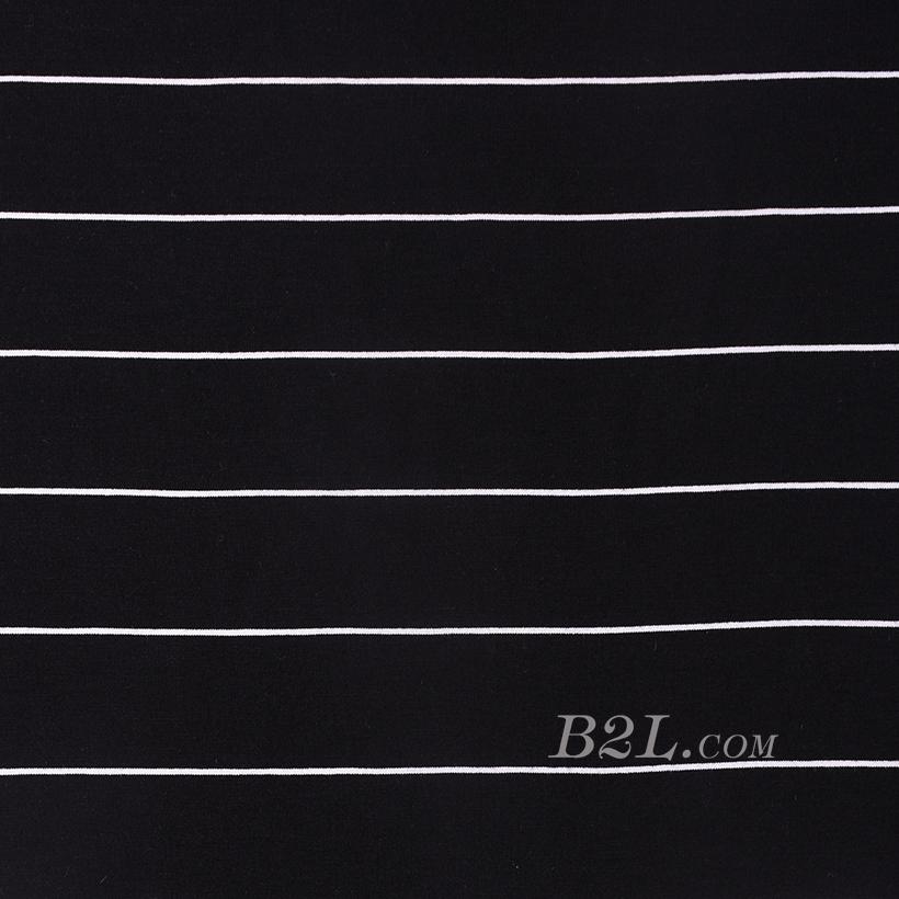 条子 横条 圆机 针织 纬编 T恤 针织衫 连衣裙 棉感 弹力 60312-150