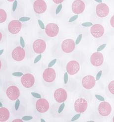 印花 梭织 染色 低弹 樱桃 植物 水果 薄 春秋 连衣裙 时装 90311-18