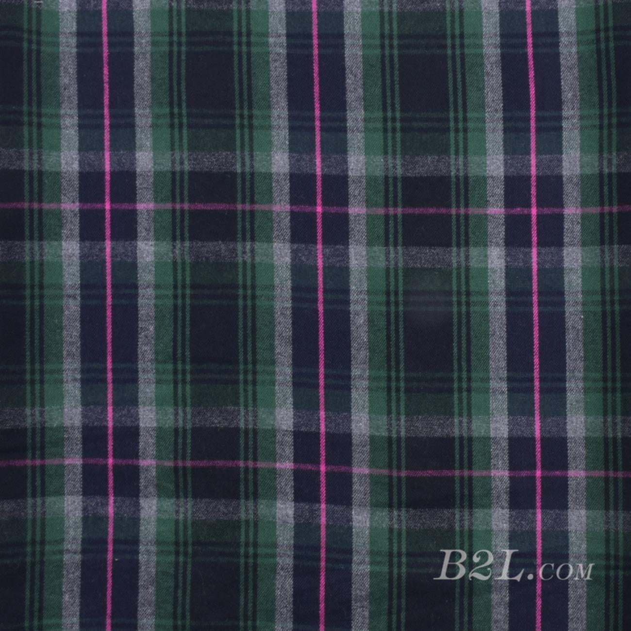 梭织染色毛纺格子面料-春秋冬大衣外套面料S1435