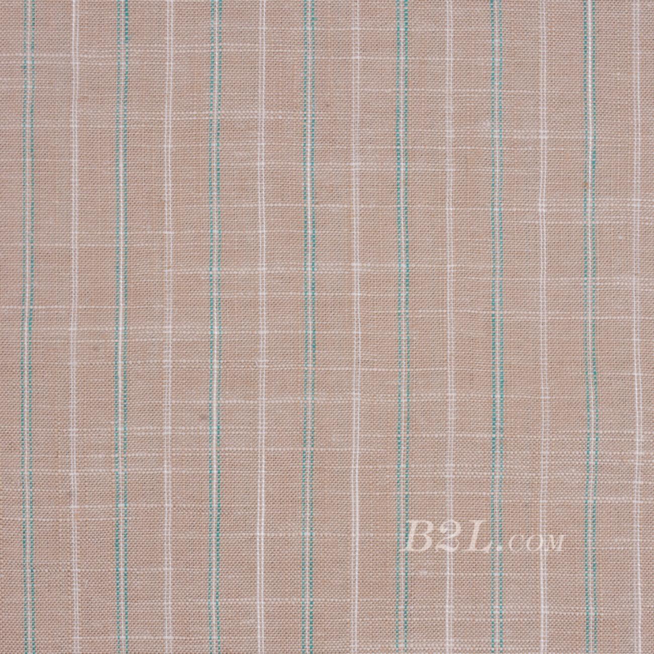 棉麻 梭織 條紋 色織 麻感 低彈 春秋 連衣裙 短裙 80912-16