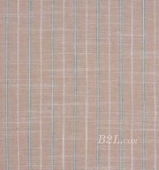棉麻 梭织 条纹 色织 麻感 低弹 春秋 连衣裙 短裙 80912-16