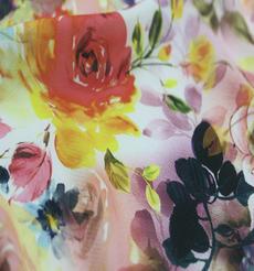 花朵 期货 印花 薄 柔软 连衣裙 衬衫 女装 春秋 60621-18