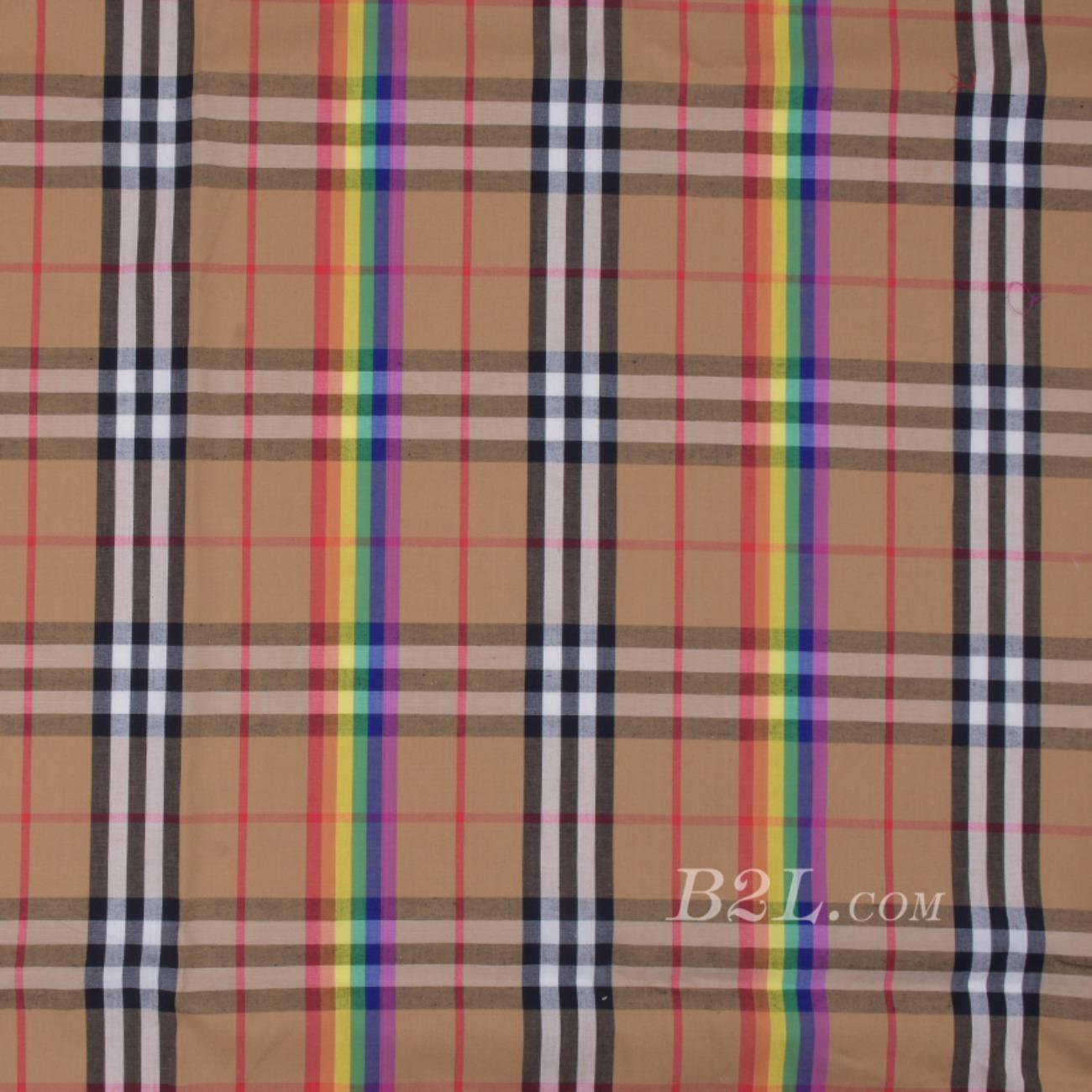 梭织 格子 巴宝莉 平纹 全棉 棉感 低弹 衬衫 女装 男装 80510-2