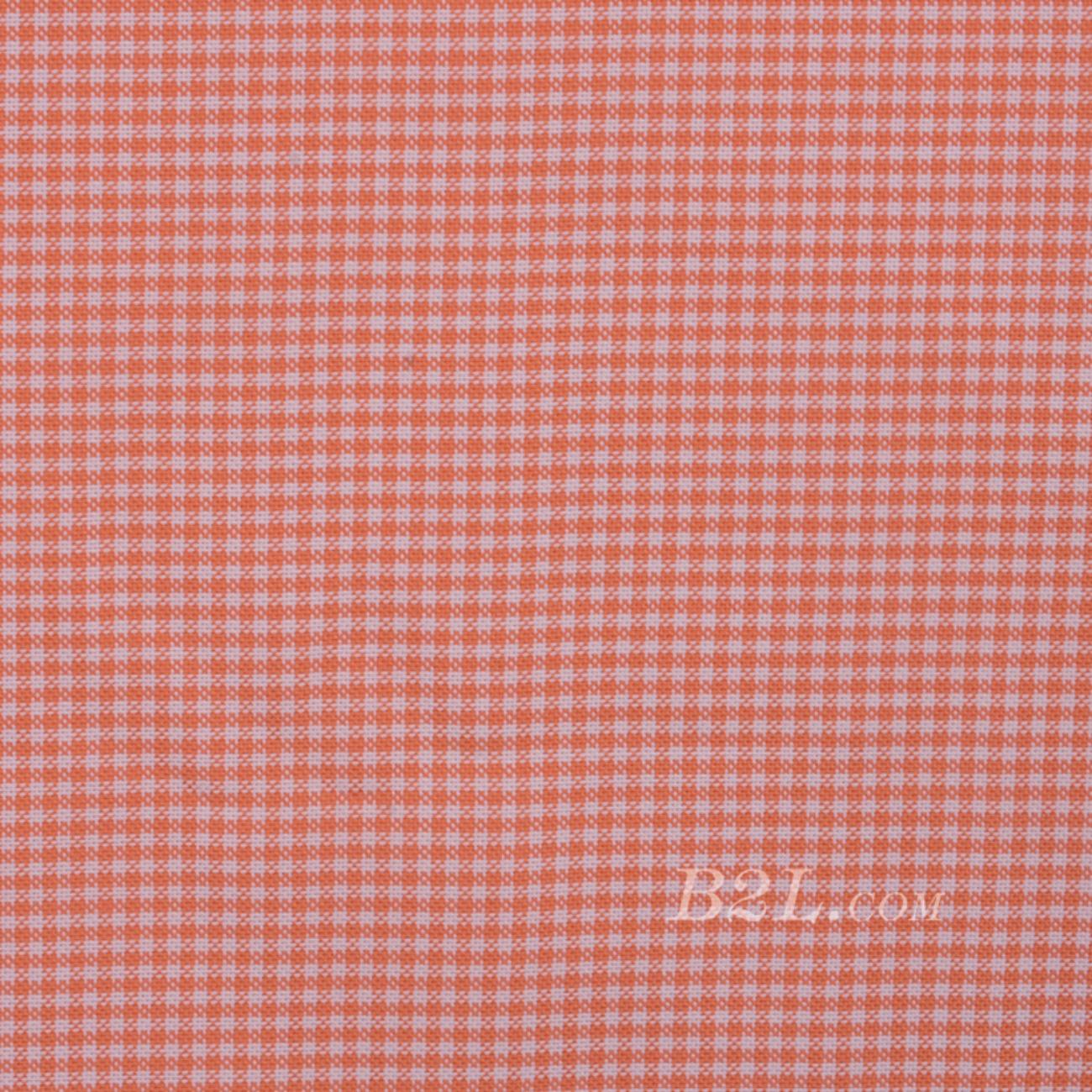 格子 梭织 色织 无弹 休闲时尚风格 衬衫 连衣裙 短裙 棉感 薄 全棉色织布 春夏秋 60929-125