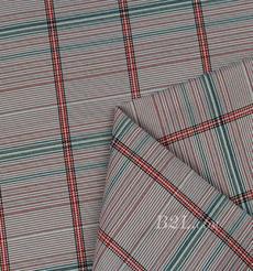 格子 涤棉 棉感 色织 平纹 外套 衬衫 上衣 70622-81