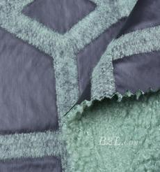 毛纺 皮革 梭织 染色 皮毛一体 几何 厚 秋冬 大衣 棉服 90930-5