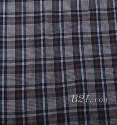 梭织 格子 棉感 色织 斜纹 无弹 外套 衬衫 大衣 裤子 60620-10